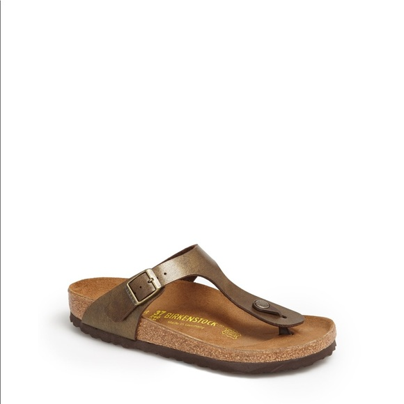 ef81ef12c99 Birkenstock Shoes - Birkenstock Gizeh birko flor brown sandals 38 7